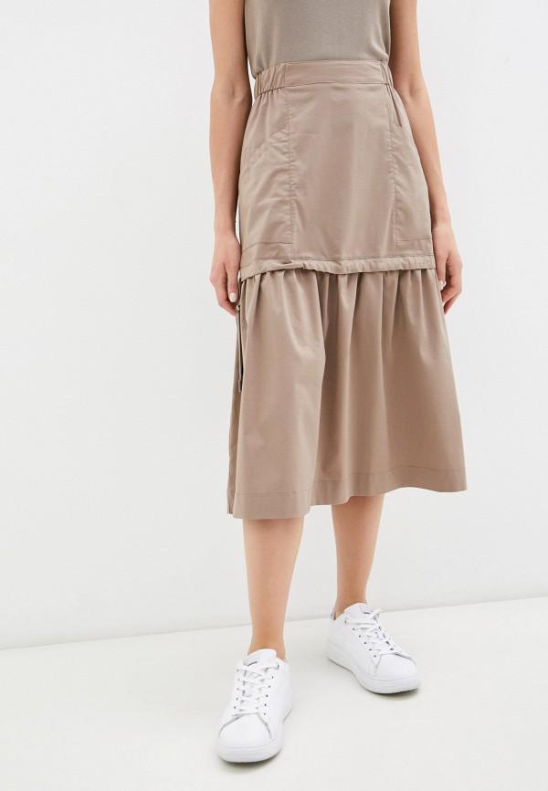 женская юбка-трапеции helmidge, коричневая
