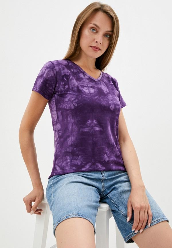 женская футболка d.s, фиолетовая