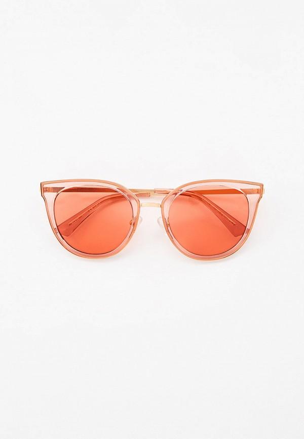 женские солнцезащитные очки кошачьи глаза ruxara, розовые