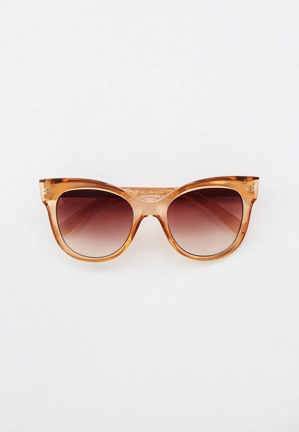 женские солнцезащитные очки кошачьи глаза ruxara, коричневые