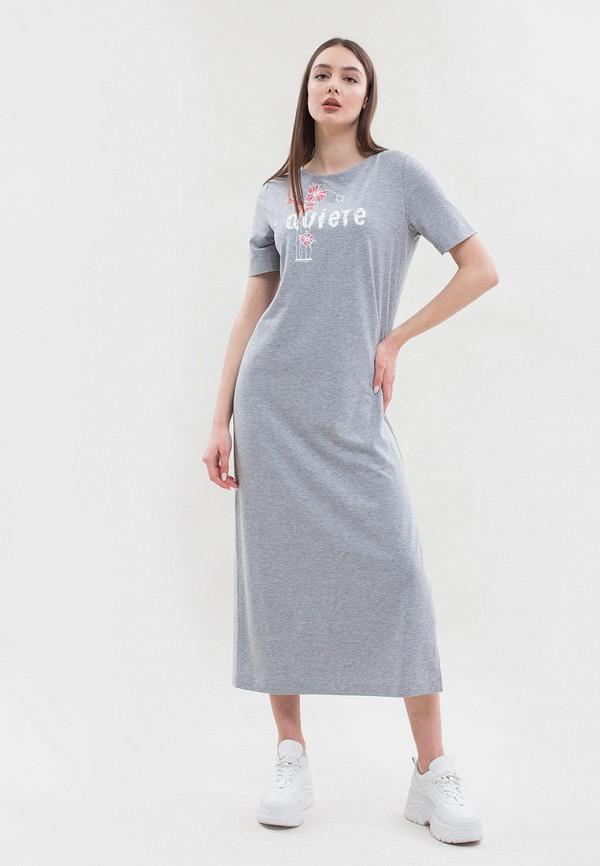 женское платье maxa, серое