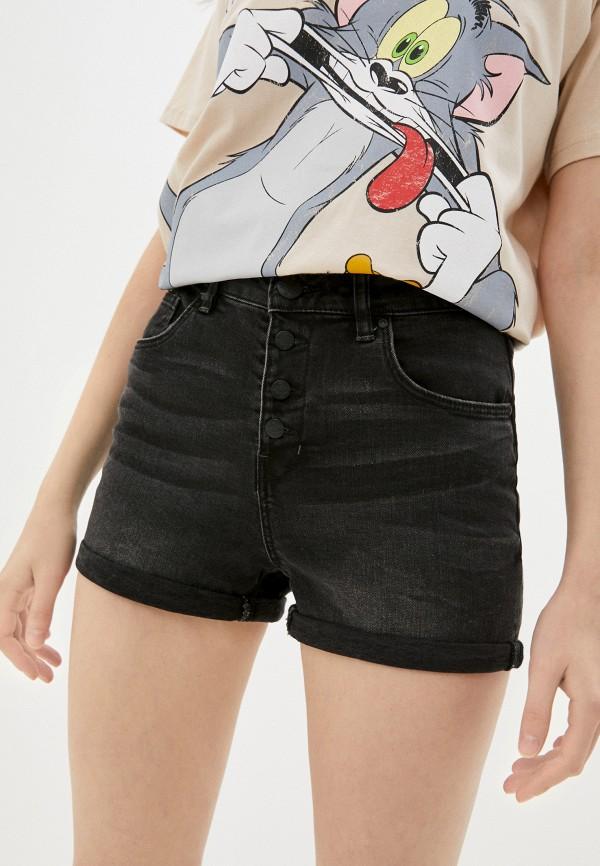 женские джинсовые шорты colin's, черные