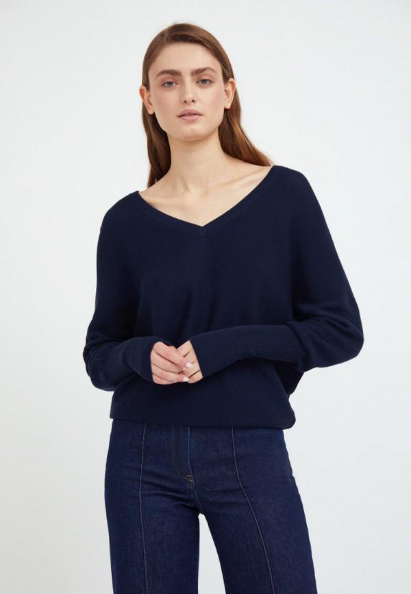 женский пуловер finn flare, синий