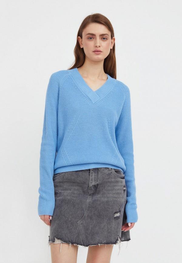 Пуловер Finn Flare голубого цвета