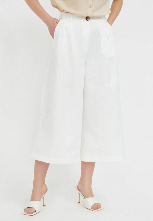 женские брюки кюлоты finn flare, белые