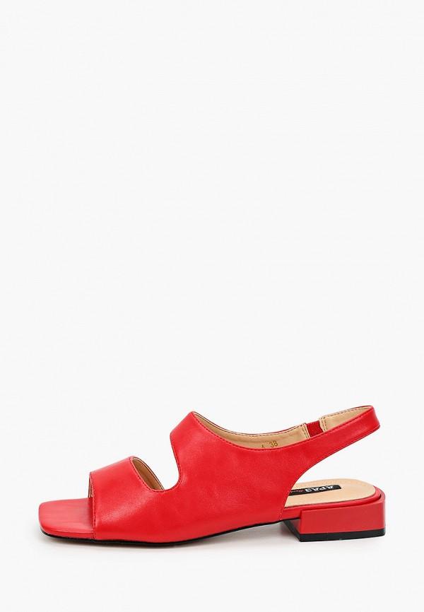 женские сандалии араз, красные