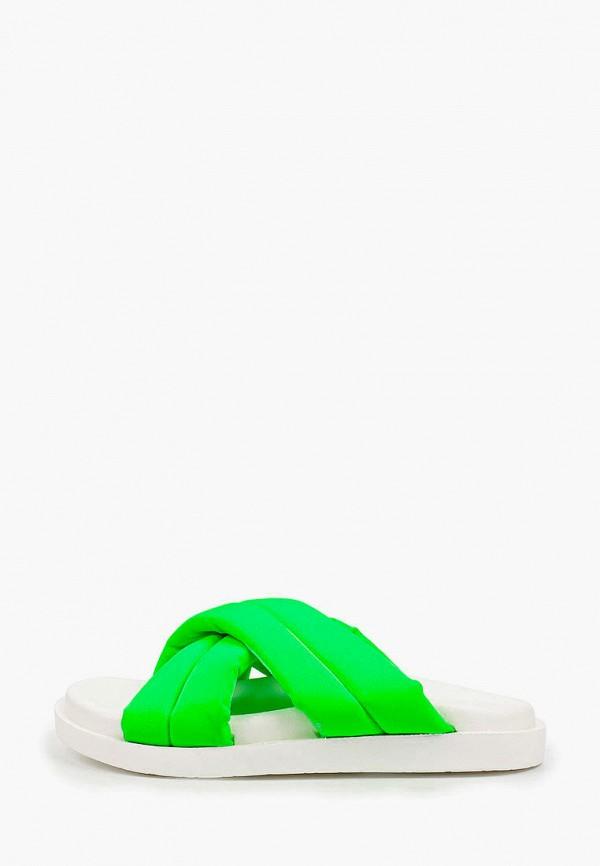 женское сабо араз, зеленое