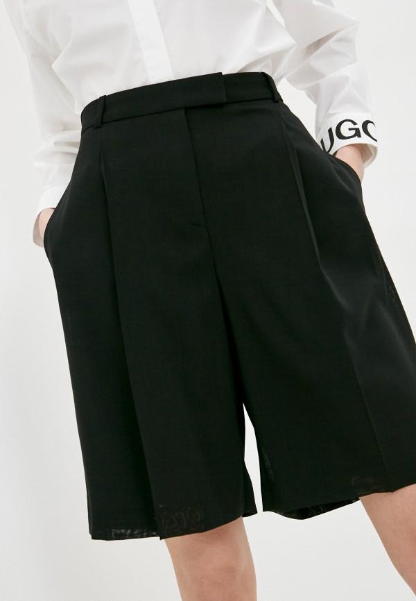 женские повседневные шорты boss, черные