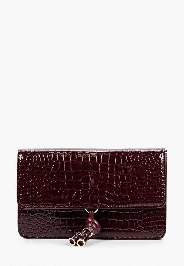 женская сумка через плечо topshop, бордовая
