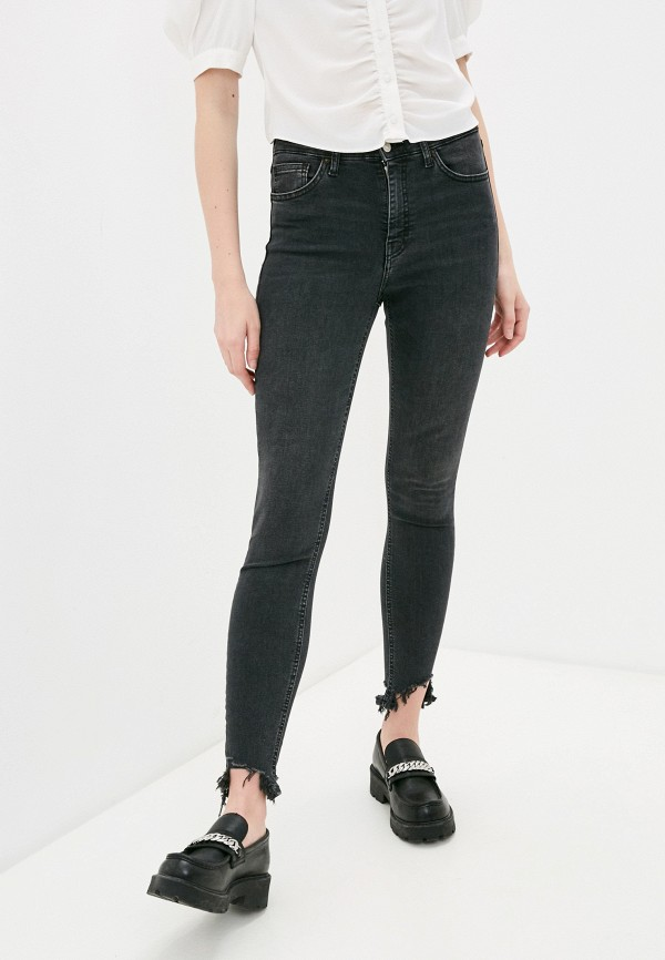 женские джинсы скинни topshop, серые