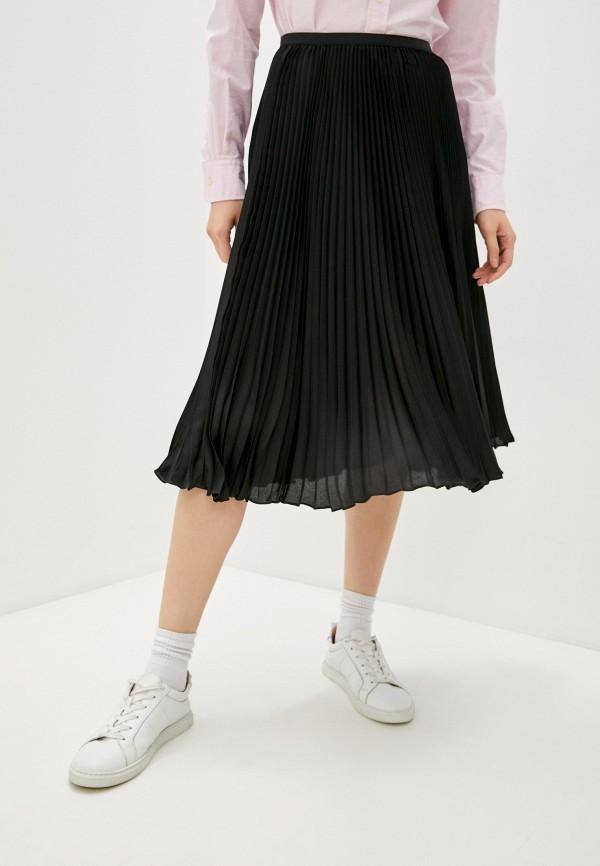 женская плиссированные юбка polo ralph lauren, черная
