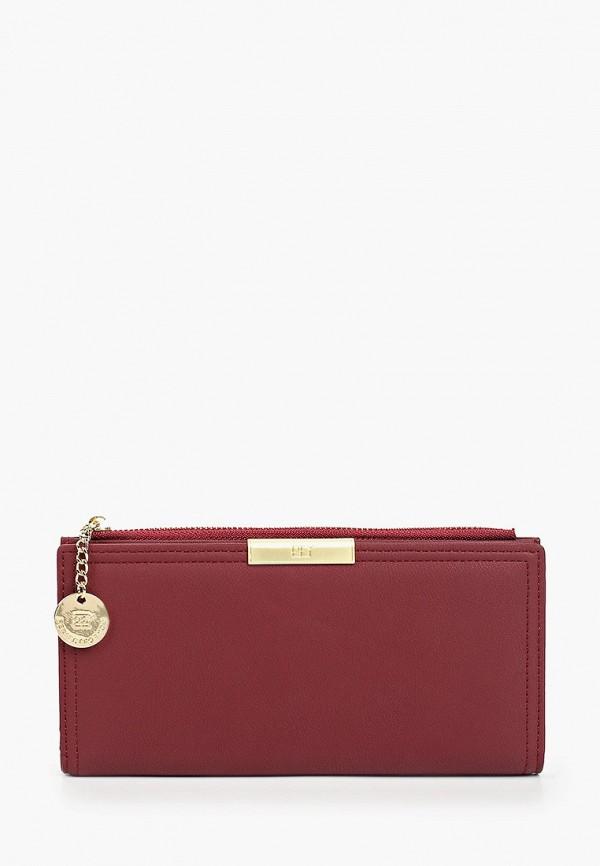 женский кошелёк mon mua, бордовый