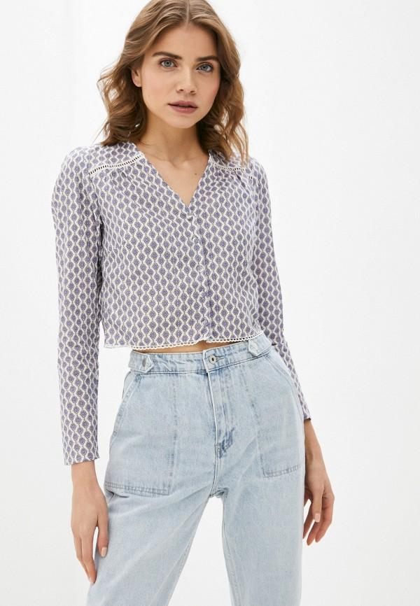 женская блузка с длинным рукавом befree, синяя