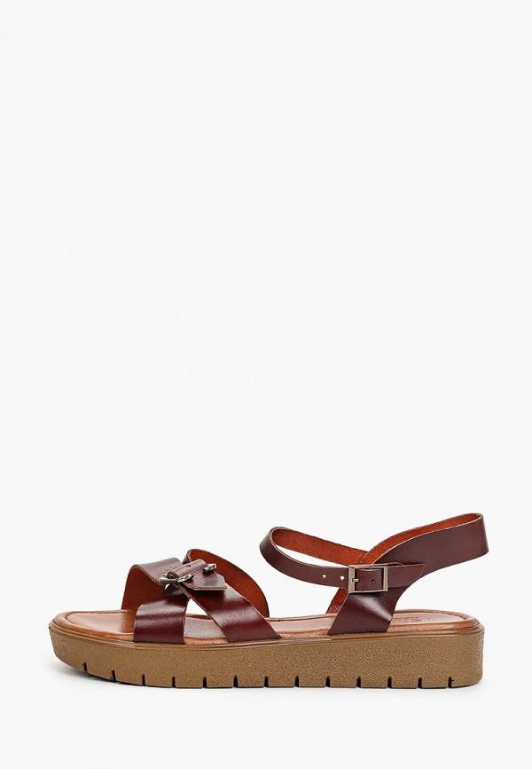 женские сандалии shoiberg, бордовые