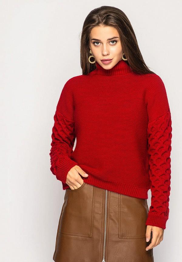 женский свитер larionoff, красный