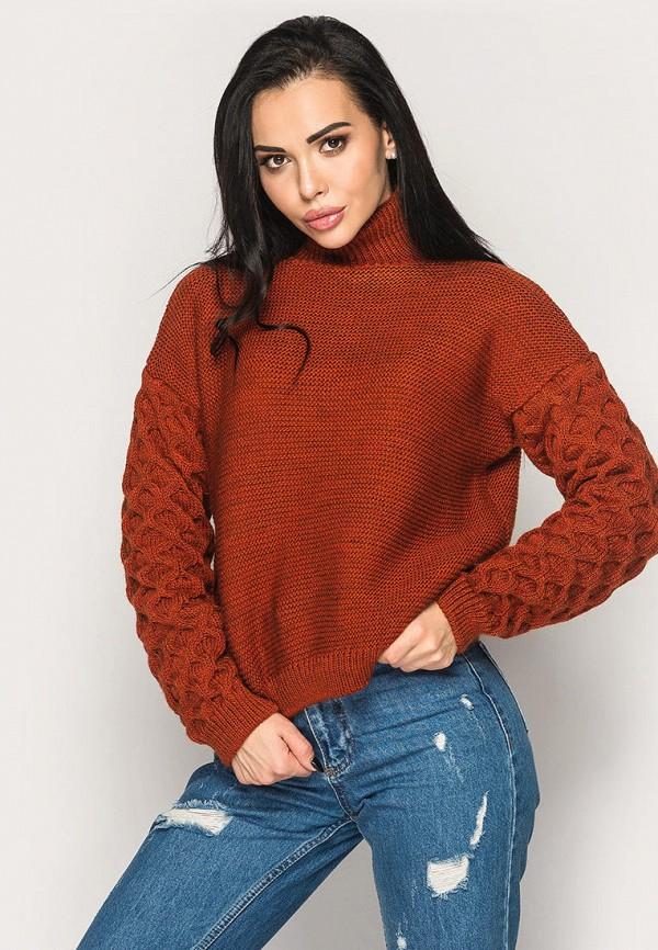 женский свитер larionoff, коричневый