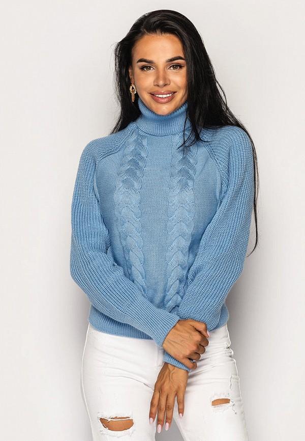женский свитер larionoff, голубой