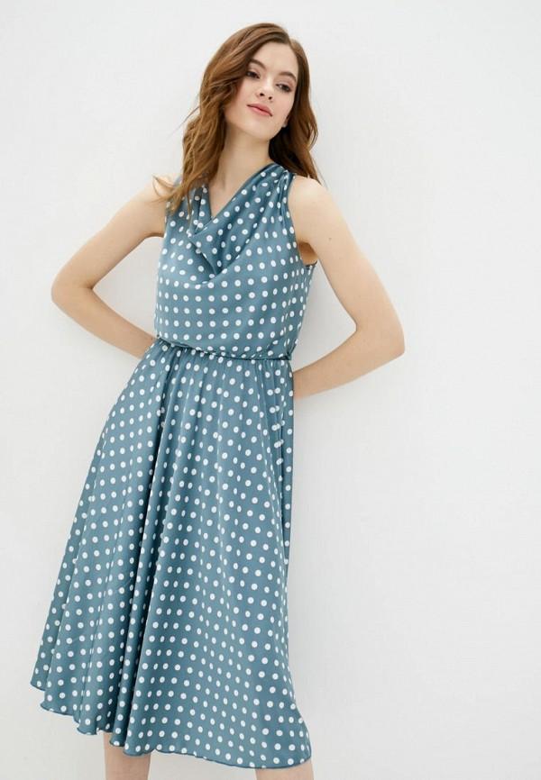 женское повседневные платье garne, бирюзовое
