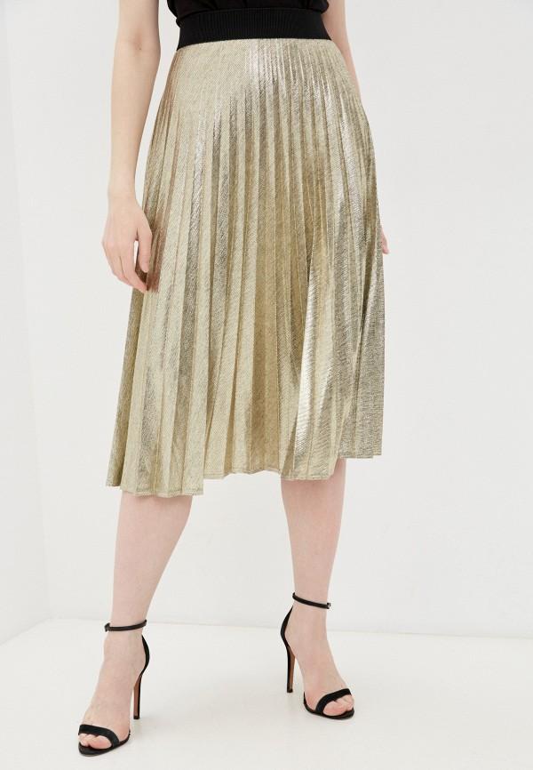 женская плиссированные юбка salko, золотая