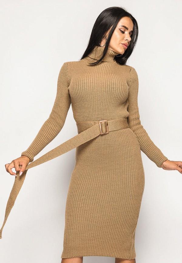 женское платье larionoff, коричневое