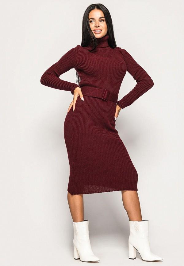 женское платье larionoff, бордовое