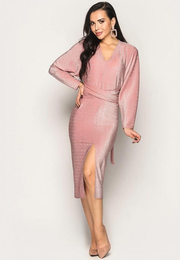 женское вечерние платье larionoff, розовое