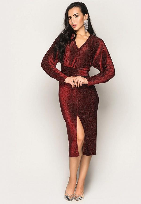 женское вечерние платье larionoff, красное