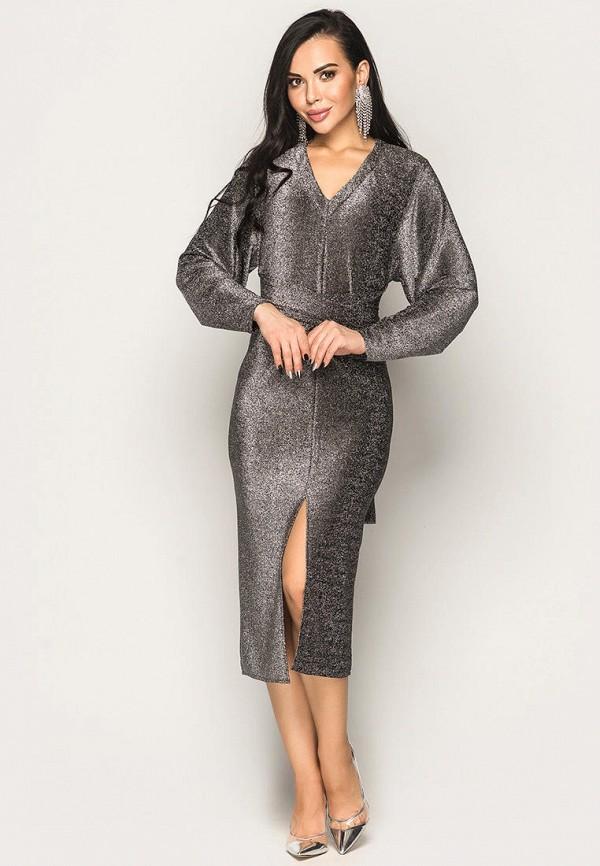 женское вечерние платье larionoff, серебряное