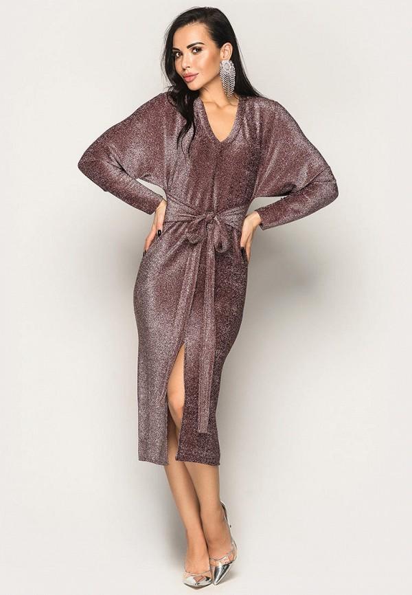 женское вечерние платье larionoff, бордовое