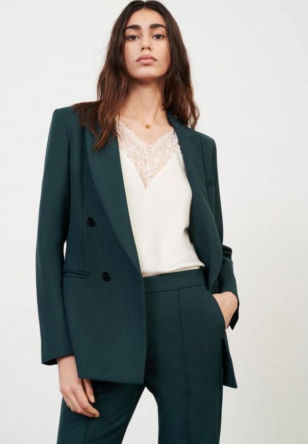 женский пиджак maje, зеленый