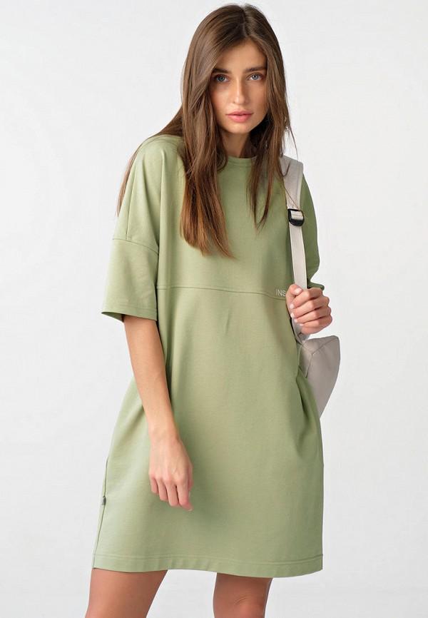 женское платье-футболки fly, зеленое