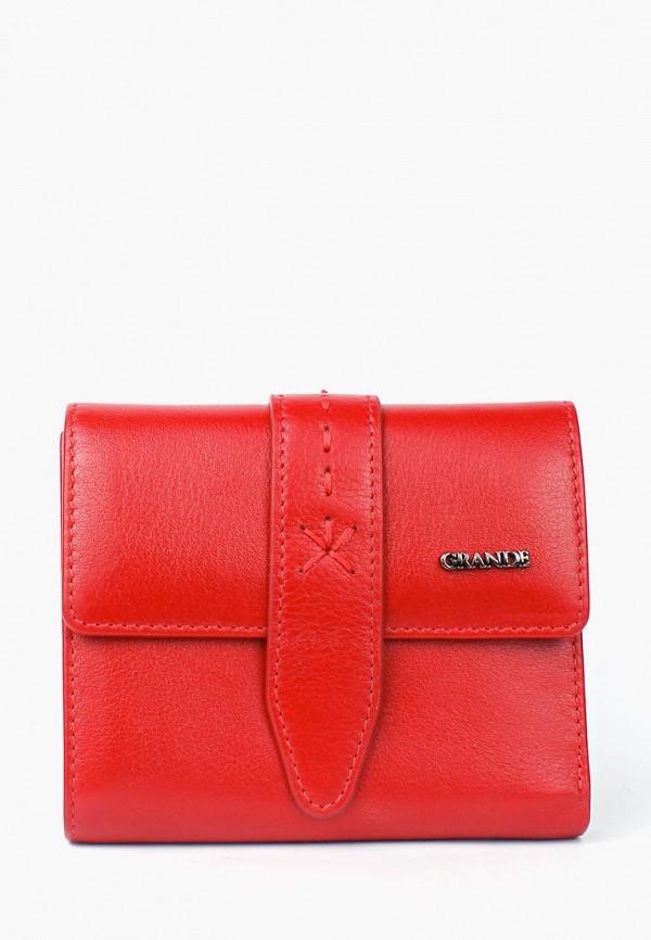 женский кошелёк grande, красный