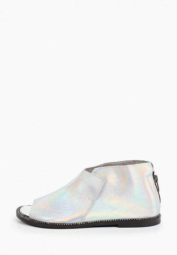 женские туфли с открытым носом tuffoni, серебряные