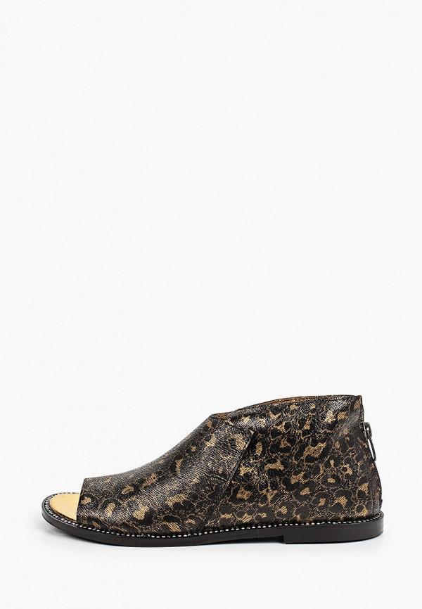 женские туфли с открытым носом tuffoni, коричневые