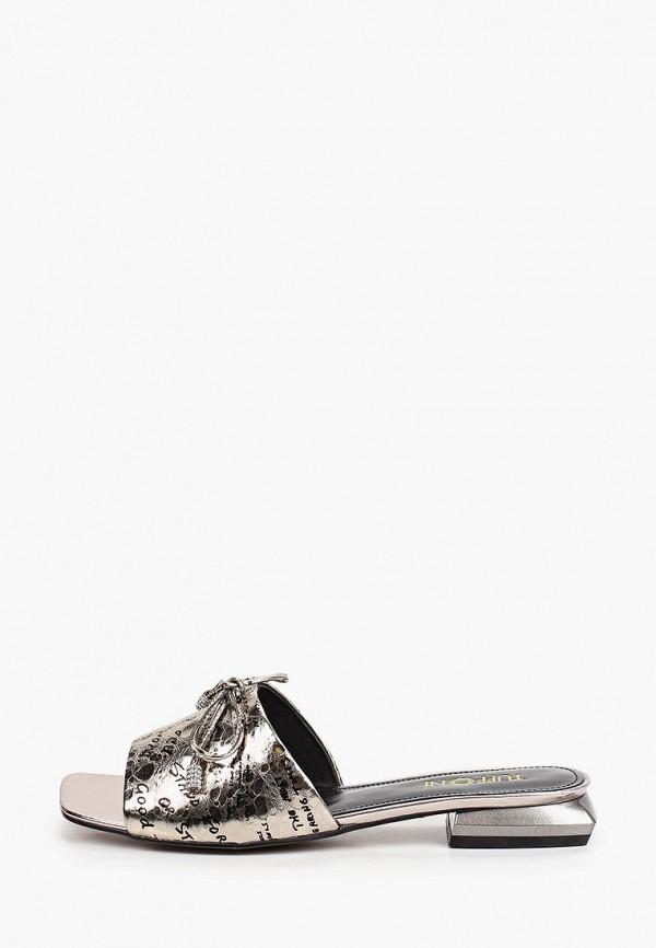 женское сабо tuffoni, серебряное