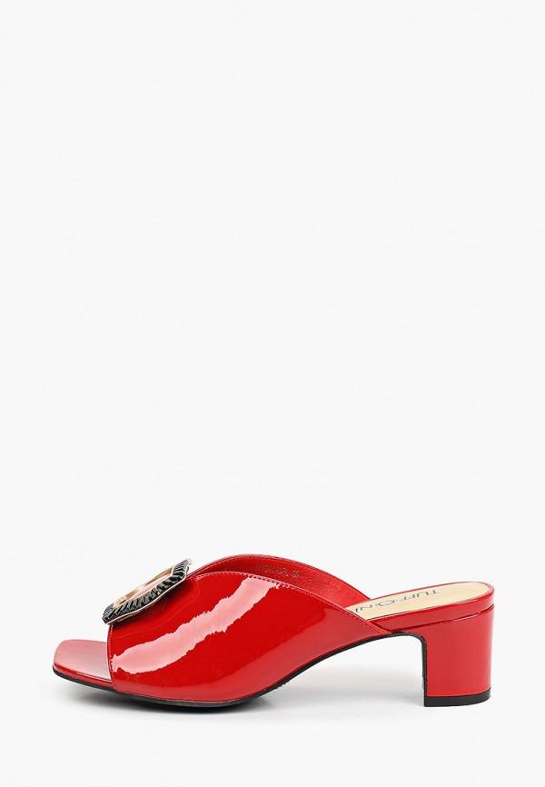 женское сабо tuffoni, красное