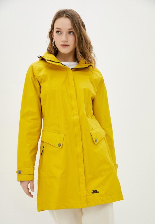 женская спортивные куртка trespass, желтая