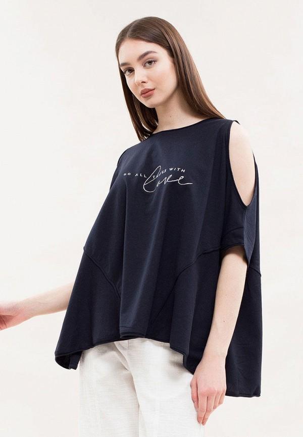 женская футболка maxa, синяя