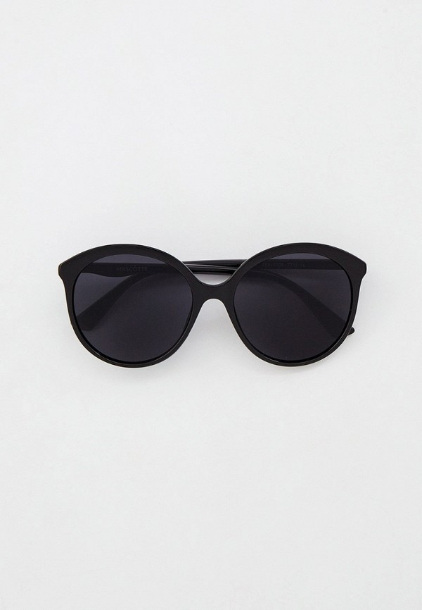 женские круглые солнцезащитные очки mascotte, черные