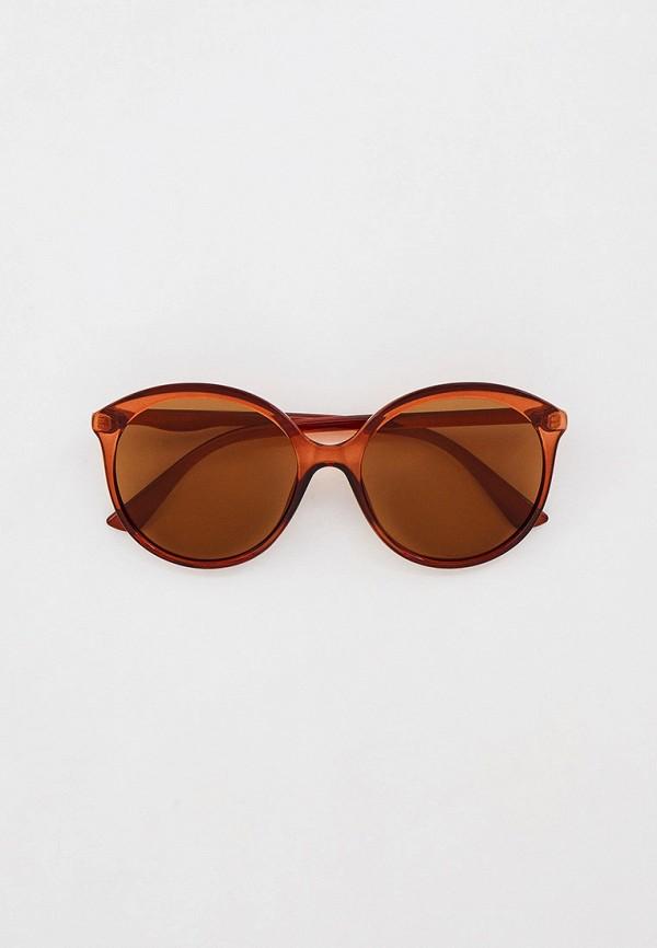 женские круглые солнцезащитные очки mascotte, коричневые