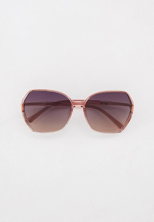 женские квадратные солнцезащитные очки mascotte, розовые