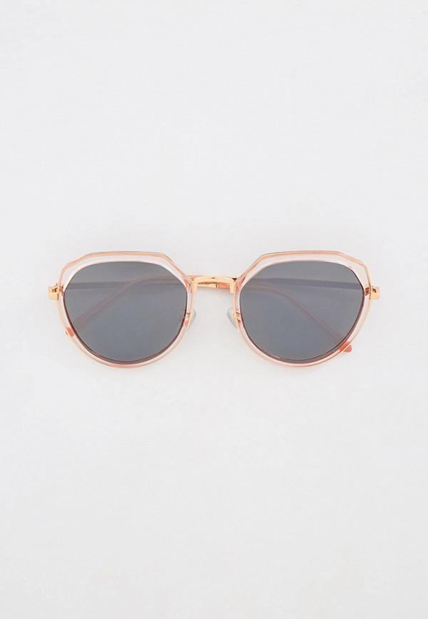 женские круглые солнцезащитные очки mascotte, розовые