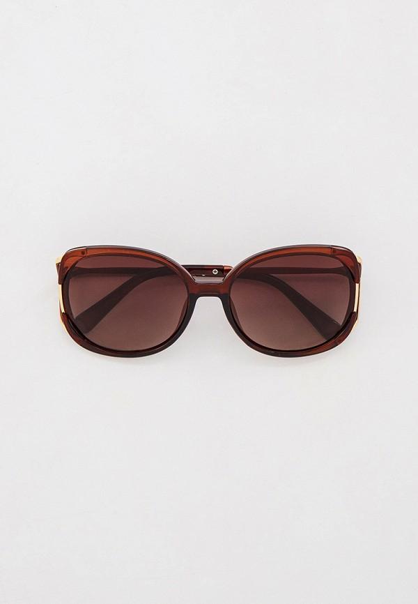 женские квадратные солнцезащитные очки mascotte, коричневые