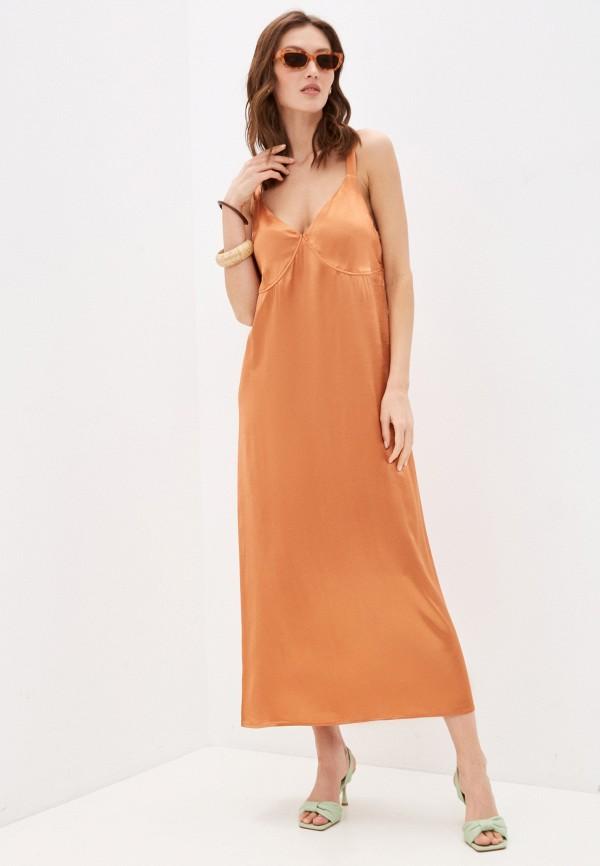 женское платье-комбинация my nude nymph, золотое