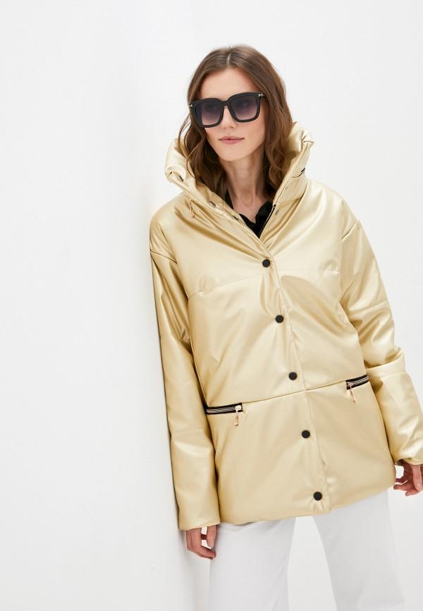 женская утепленные куртка grand grom, золотая
