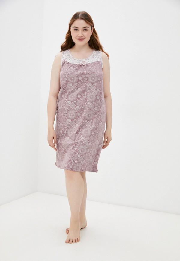женские сорочка ночная весталия, розовые