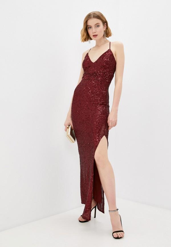 Платье Joymiss бордового цвета