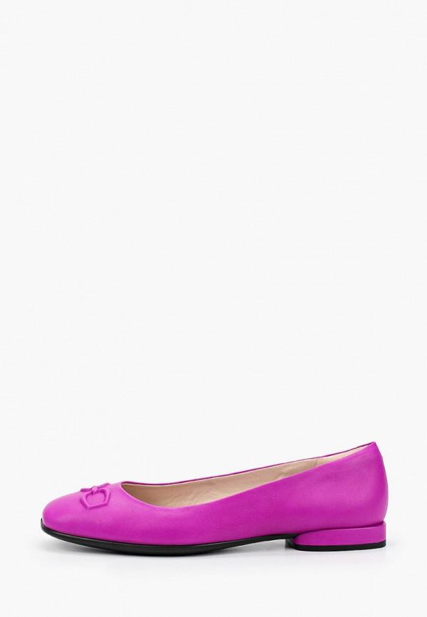 женские балетки ecco, фиолетовые