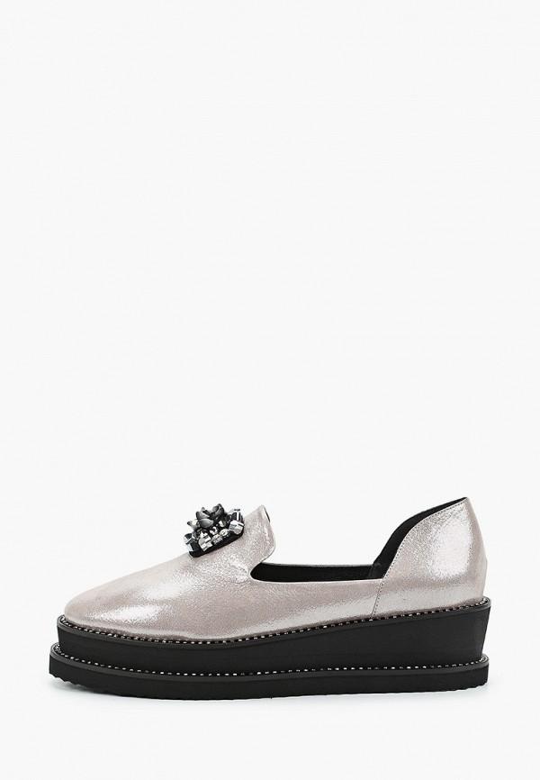 женские туфли с закрытым носом ridlstep, серебряные