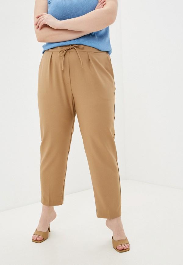 женские зауженные брюки mark formelle, бежевые